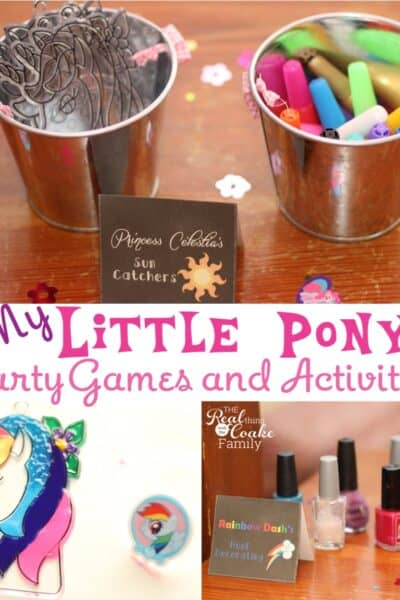My Little Pony Games ~ Perfect for a My Little Pony themed birthday party! #MyLittlePony #MLP #Games #Birthday #Party #RealCoake