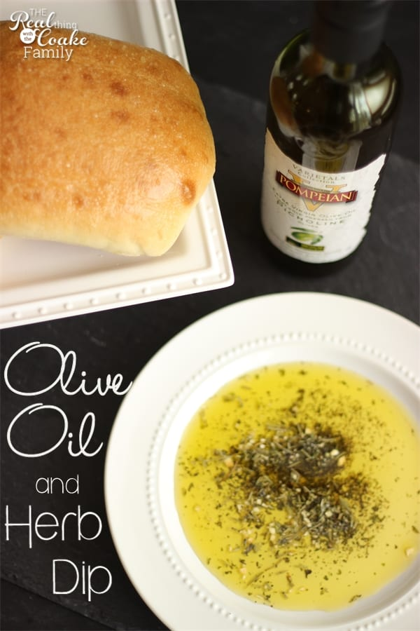 simple, and delicious Olive Oil and herb dip served with an olive oil ...