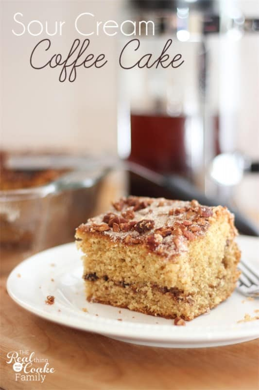 The most delicious sour cream coffee cake recipe for The most delicious recipes