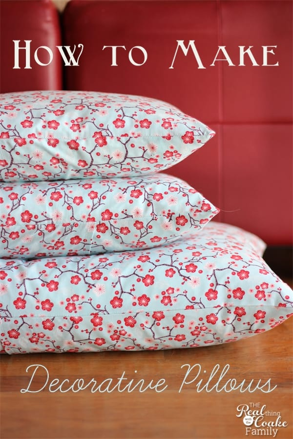 how to make decorative pillows make envelope pillow covers. Black Bedroom Furniture Sets. Home Design Ideas