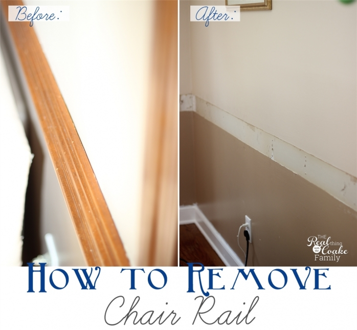 How To Remove Chair Rail ~Part 1 » The Real Thing With The