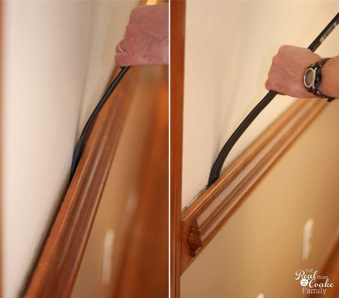 How to remove chair rail. Picture tutorial. #ChairRail #HomeImprovment #DIY #RealCoake