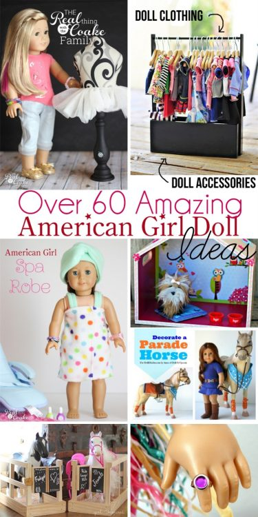 Over 60 Amazing American Girl Doll Crafts and Fun Ideas! Great inspiration from crafts and sewing to organization and diy ideas!