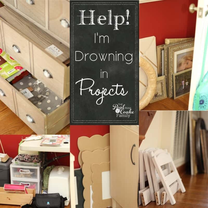 Keeping it real - Let's talk about my house and myself drowning in projects. What's a blogger to do? #KeepingItReal