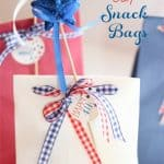 Adorable and Easy 4th of July Snack Bags