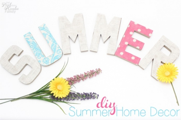 So pretty! Love this idea! Make your own gorgeous summer DIY home decor. #Crafts #DIY #HomeDecor #RealCoake