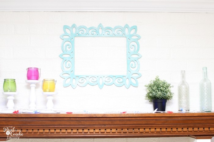Super simple to make a statement in your room with this DIY wall art. Such a pretty frame and looks easy to do! #DIY #WallArt #Crafts #RealCoake