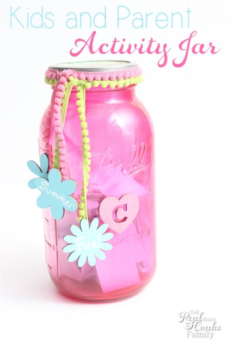Cute craft and great idea for activities for kids and parents to do together. Perfect for summer(or anytime) parent and child fun! #Activities #Kids #Family #RealCoake #Crafts