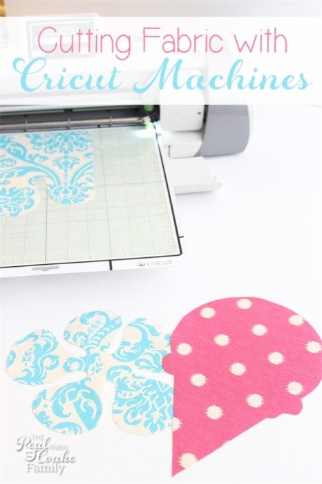 Great tutorial on cutting fabric with cricut machines. Has specific settings, what works and what doesn't. Awesome! #Cricut #Fabric #RealCoake