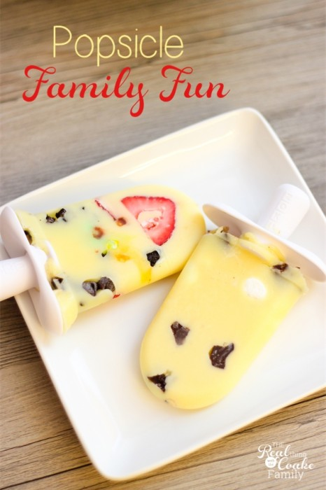 Great idea! Have a popsicle making bar for some summer family fun together! ♥ #Family #Fun #Summer #Popsicle #RealCoake