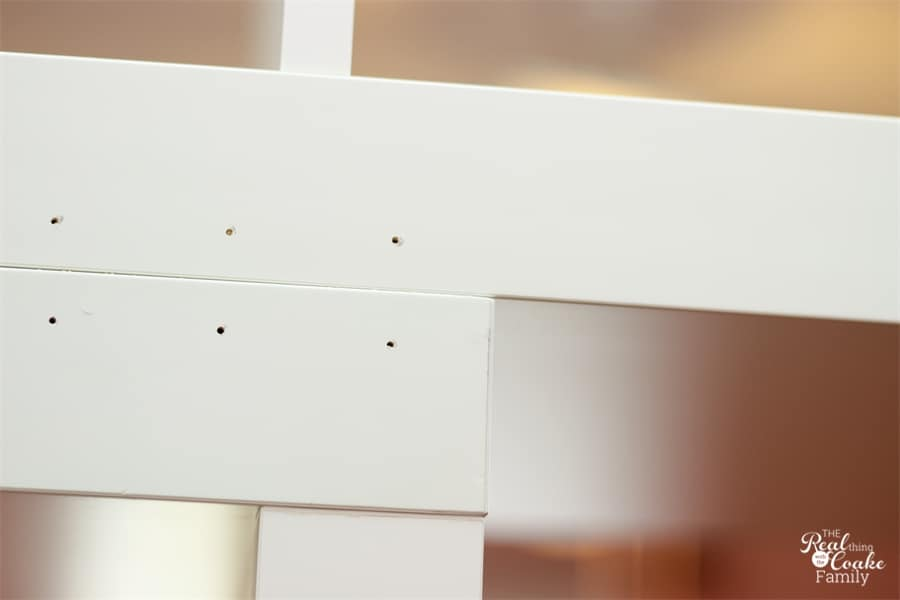 pre-drilled holes in the back of IKEA Expedit