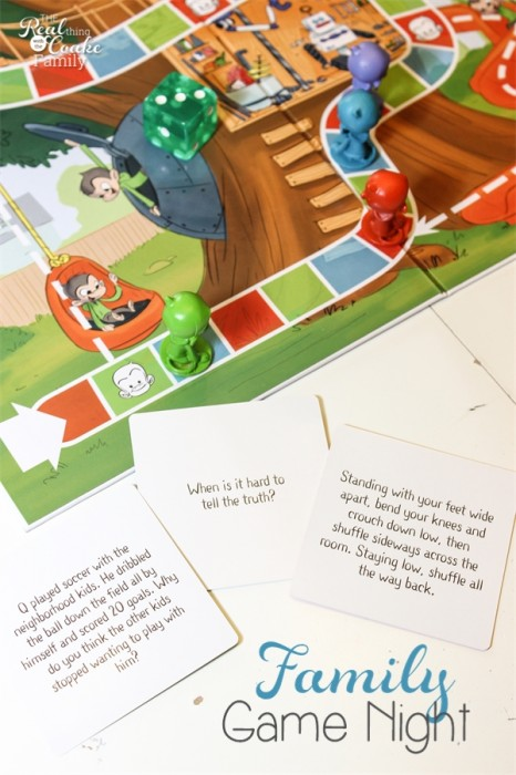 Plan a  family game night to promote conversation, connection and fun as a family! #FamilyGameNight #GameNight #FamilyFun #Qsracetothetop #pmedia #ad #RealCoake