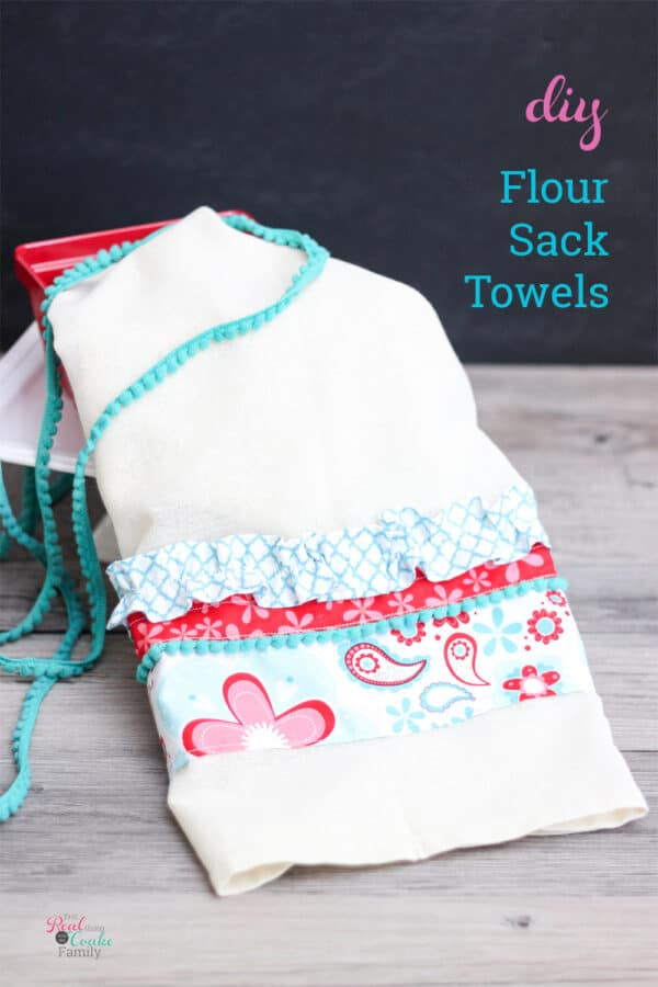 finished flour sack towel