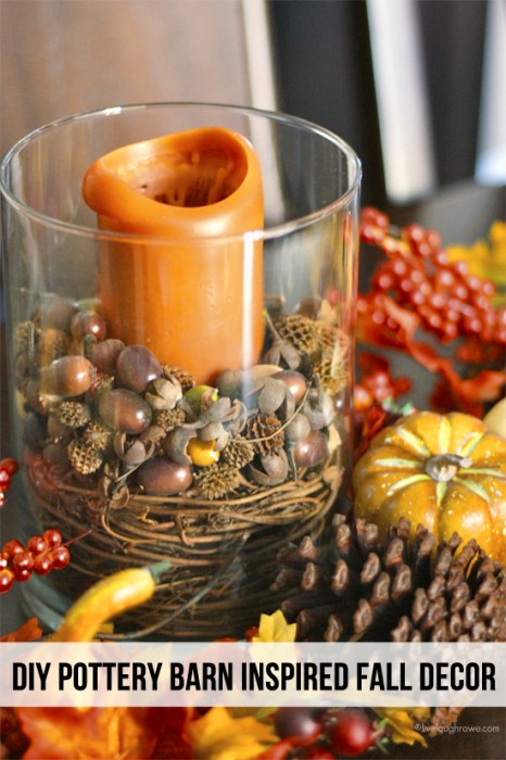 fall candle home decor