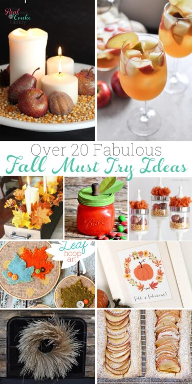 Collage picture of fall ideas