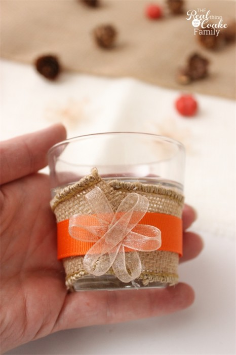 Oh Thanksgiving crafts! These are the most darling diy tea lights. They are easy to make and will be a great addition to my Thanksgiving decorations.