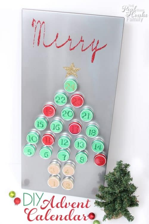 Love this DIY advent calendar. It is so pretty and reusable. I love that it adds to my Christmas decorations and lets the kids countdown at the same time. Sponosred