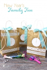 Love cute crafts like these bags. They will be perfect for our family New Year