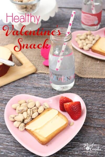 I'm always looking for healthy snacks. This is such a cute and easy idea for a fun Valentine's Day snack that the whole family will enjoy! Sponsored