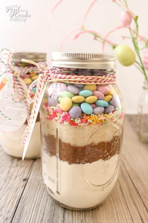 Easter mason jar cookie recipe for Mason jar easter ideas