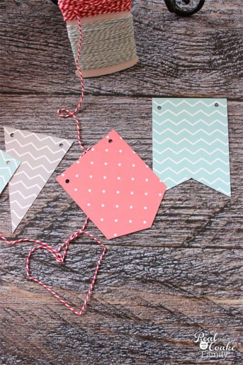 I can't wait to make this adorable diy banner with the cute tassels. It is easy to make and I can change it for whatever season or theme. Perfect for easy changes to my home decor. Sponsored