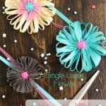 How to Make a Flower from Ribbon ~ Single Layer Flower