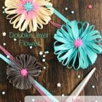 How to Make a Flower from Ribbon ~ Double Layer Flower