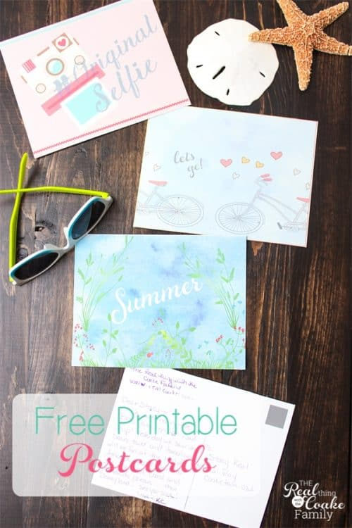 These are adorable printable postcards! They are free printables perfect for printing and sending from camp or on a trip over the summer.
