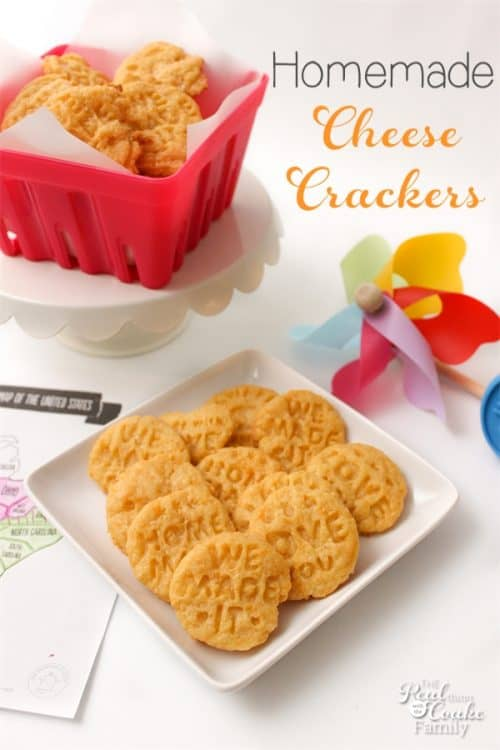 "Love finding delicious recipes that I can make with this kids for kids activities. These homemade cheese crackers are Amazing!  Loved hearing the kids say, ""We Made It!"""