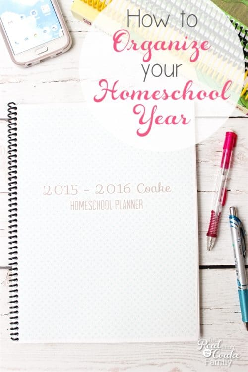 This is such an easy way to Organize our homeschool year. It will help me with planning our homeschool year and keeping on track throughout the year.