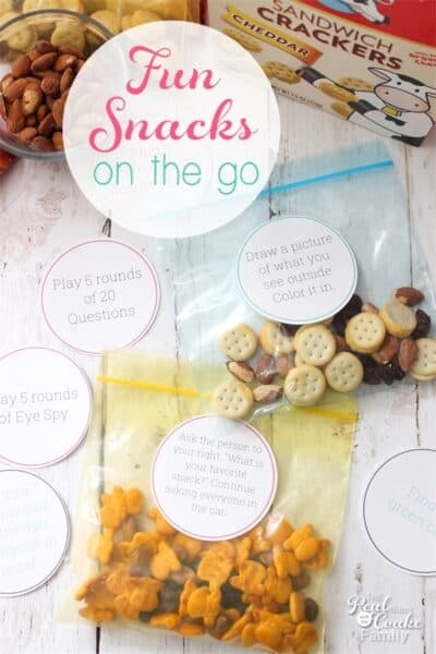 This is such a cute and simple idea for fun snacks for kids on the go. Yum! We need this for our next afternoon out or road trip.