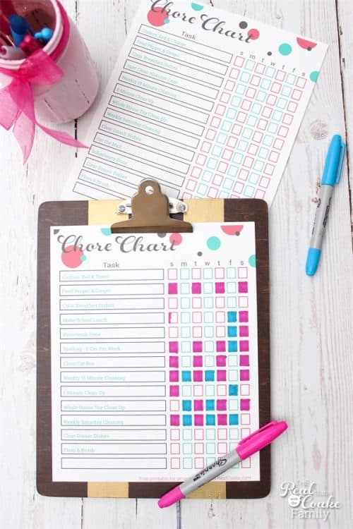 Love these Printable Chore Charts for the kids. Cute and free.