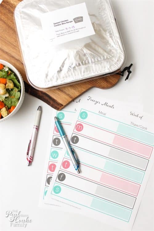 I totally need to try this. Tons of tips and tricks for easy dinners with once a month cooking. It will stock my freezer with meals for the whole month. #8 is my favorite. Dinner sanity restored!