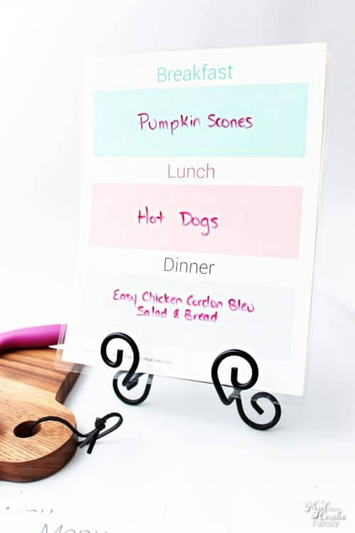 I love this free weekly meal planning printable. It is perfect for keeping on a budget and planning for our family meals. Cute and colorful, too.
