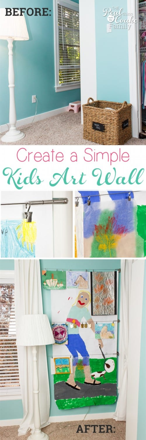 Love this Cheap Home Decor for a kids room. Just a quick item from IKEA to make an art wall. So Fun!