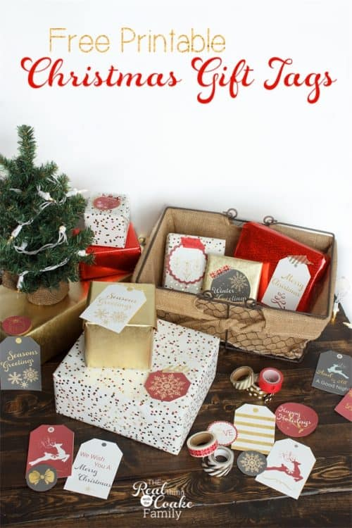 Love these cute Christmas Gift Tags! Free printable that is going to add the perfect touch to all those Gift Ideas this Christmas.