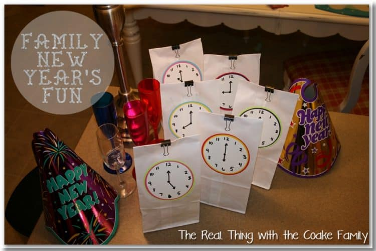 Love all these great New Years Eve ideas for the whole family to celebrate together. Ideas for activities, crafts, mocktails, desserts and printables all for a fun way to ring in the New Year as a family.