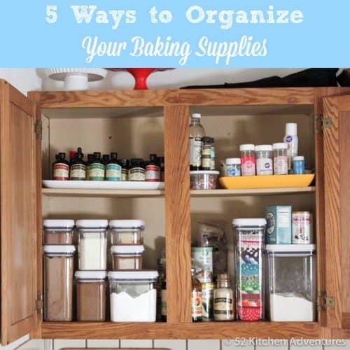 ways to organize baking supplies