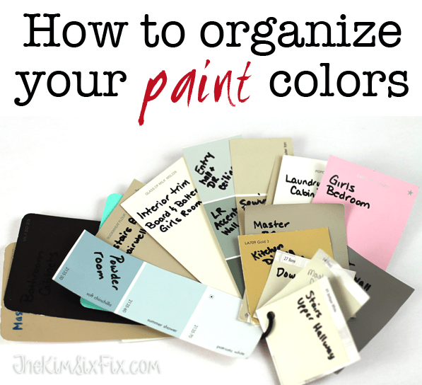 how to get paint colors organized