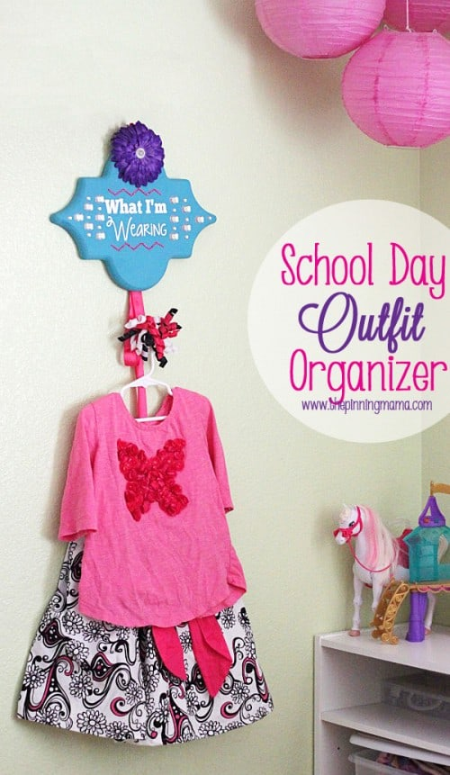 school day outfit organizer
