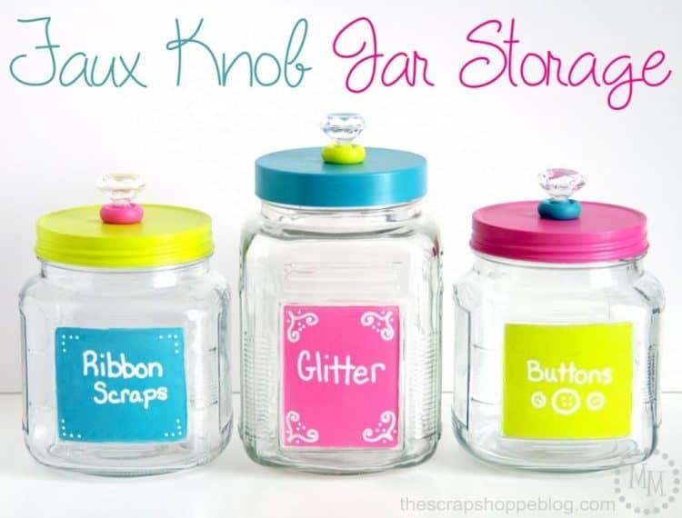 jar storage for organization