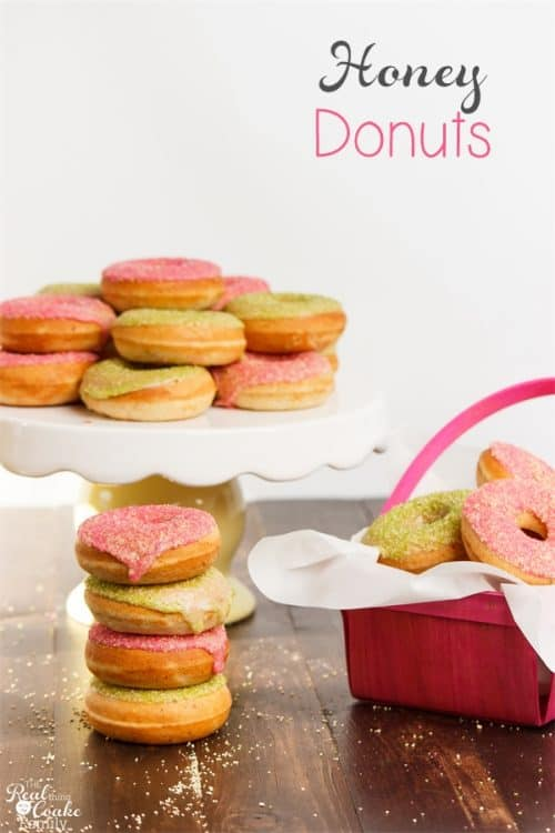 We love making donut recipes! This baked honey donut recipe is so delicious and will be perfect for our Easter or other spring festivities.
