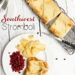 Southwest Turkey & Cheese Stromboli