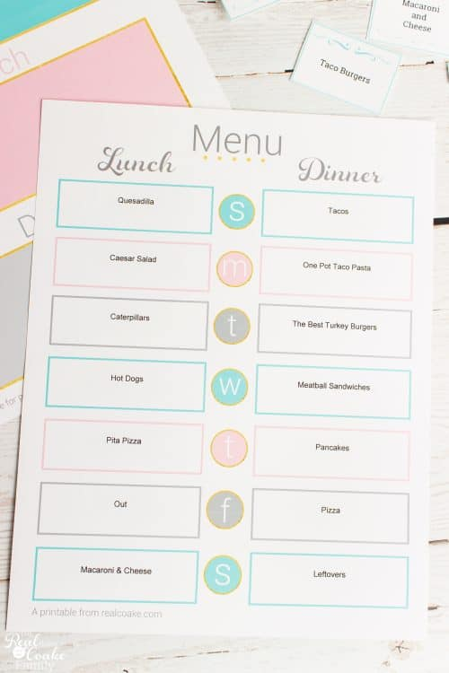 Great tips and ideas how to organize Meal Planning to make it simple. Organizing meal planning saves me money and makes dinner easy. love it!