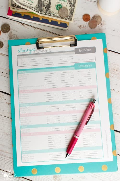 Great ideas on Budgeting and how to set up a Budget as well as free printables and an app to help stay organized financially.