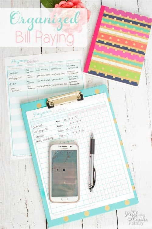 Great organization for Paying Bills. Free printables to help with organizing our money.