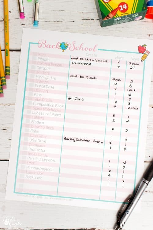 Such a great way for organizing the Back to School Shopping! Free printable and ways to save time, money and sanity. Yay!