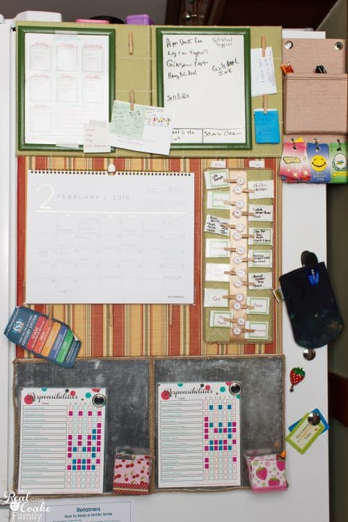 This is a simple DIY home Command Center. It will totally help our family organization stay on track. Love it!