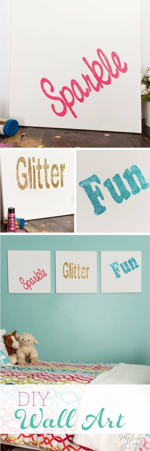 This is DIY Room Decor is so cute! It looks like easy wall art that just uses canvas and a few supplies. Looks perfect for my girls bedroom.