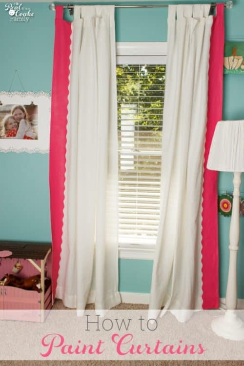 These are such cute DIY Curtains for a girls bedroom. I love the painted scalloped edge.